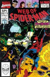 Web of Spider-Man (1985 series) Annual #6, VF+ (Stock photo)