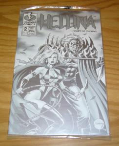 Hellina: Heart of Thorns #2 VF/NM platinum variant with COA (411/1200) bad girl