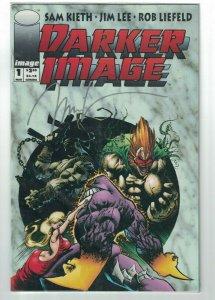 Darker Image #1 VF/NM signed by Jim Lee - deathblow maxx - Rob Liefeld Sam Kieth