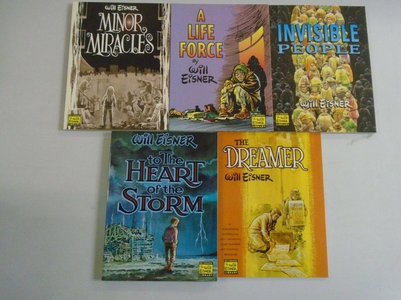 Lot of 5 different Will Eisner TPBs SC