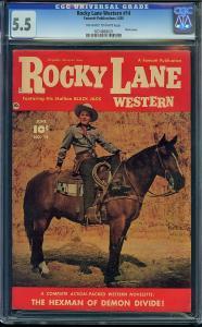 Rocky Lane Western #14 (Fawcett, 1950) CGC 5.5