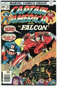 Captain America #201 1976- Falcon- Marvel Bronze Age-Jack Kirby VF+
