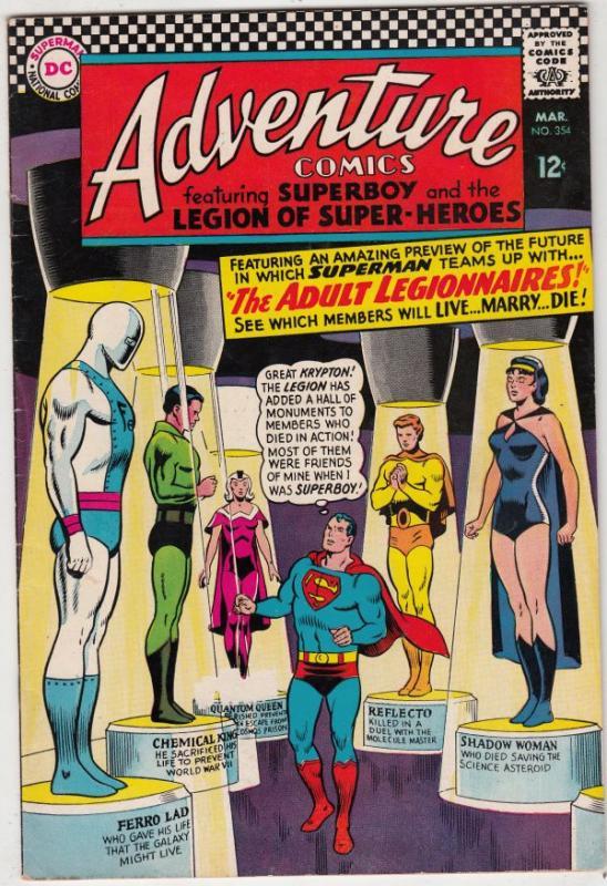 Adventure Comics #354 (Mar-67) VF/NM High-Grade The Adult Legion of  Super-Her... / HipComic