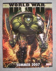 HULK WORLD WAR Promo Poster, 10x13, 2007, Unused, more Promos in store