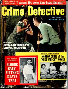 Crime Detective 7/1959-Sterling-Teenage Bride Murder-horror crime-pulp-G/VG