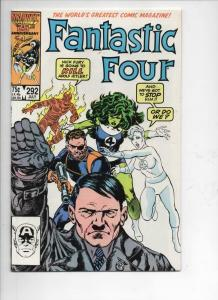 FANTASTIC FOUR #292 NM- Hitler, Byrne 1961 1986 Marvel, more FF in store