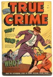 True Crime V. 2 #5 1949-Jack Cole-Canadian edition-rare Golden-Age G+