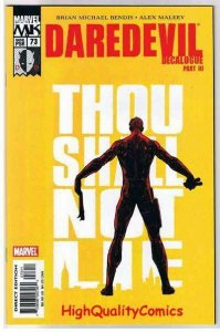 DAREDEVIL #73, VF, Alex Maleev, Bendis, 2005, more DD in store