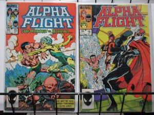 ALPHA FLIGHT (1983-1994) 15-16 Submariner Story Arc