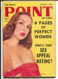 Male Point of View 8/1956-cheesecake-Anita Ekberg-Lila Lynn-Ty Cobb-VG