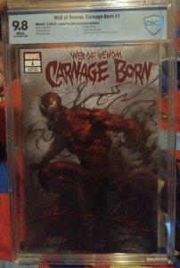 Web of Venom Carnage Reborn #1 Lucio Parrillo Exclusive Variant NM 9.8