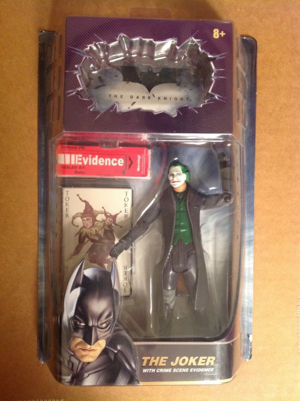 The Dark Knight Movie Masters Joker figure MOC Batman Heath Ledger