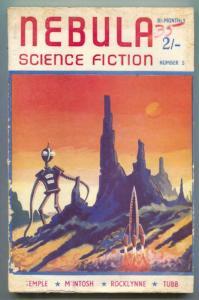 Nebula Science Fiction #5- British pulp magazine- Tubb- Temple