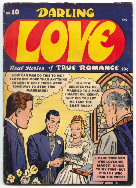 Darling Love #10 1952- Harry Lucey- Golden Age- VG-