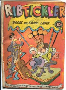 Ribtickler #1 1945-Fox-1st issue-Pussy Katnip-spine wear-G-