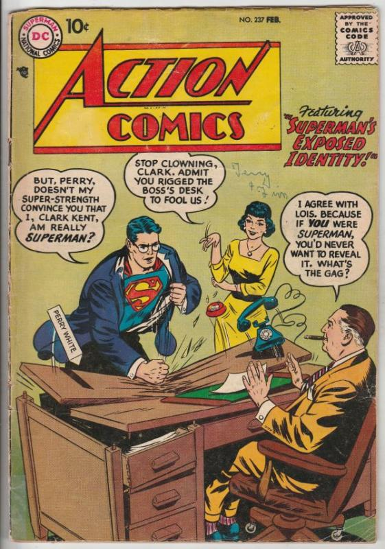 Action Comics #237 (Feb-58) VG+ Affordable-Grade Superman