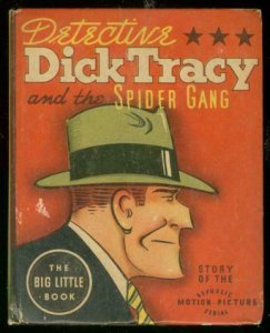DICK TRACY #1446-BIG LITTLE BOOK-SPIDER GANG MOVIE EDIT VG/FN