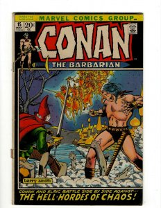 Conan The Barbarian #15 FN Marvel Comic Book Barry Smith Kull King Sword NP16