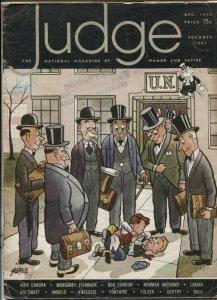 Judge Magazine December 1946- Judy Canova- Folger