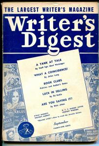 Writer's Digest 9/1944-fMort Weisinger-Secret Agent X-Wonder Stories-VG