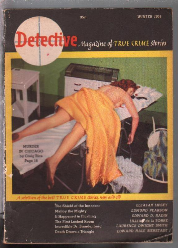 Detective 1942-1st issue-Murder In Chicago-Craig Rice-violence-VG