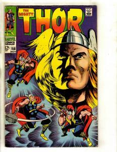 Thor # 158 VF- Marvel Comic Book Loki Odin Sif Avengers Hulk Iron Man GK4