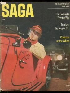 SAGA MAGAZINE JUNE 1953-WESTERN-ADVENTURE-MG RACE CAR G/VG