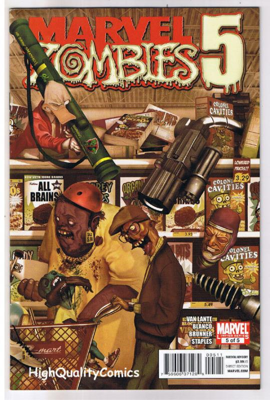 MARVEL ZOMBIES 5 #5, VF+, Howard the Duck, Machine Man, 2010, more in store