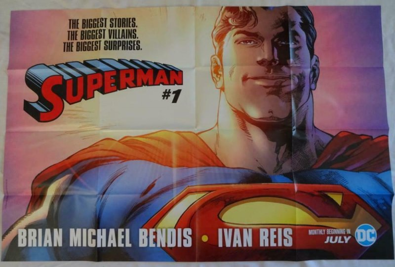 SUPERMAN  Promo Poster , 24 x 36,  2018, DC,  Unused more in our store 083