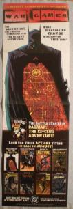 WAR GAMES BATMAN Promo poster, 11x34, 2004, Unused, more Promos in store