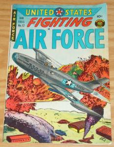 U.S. Fighting Air Force #12 FN- january 1955 - golden age superior comics war