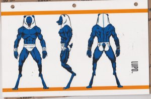 Official Handbook of the Marvel Universe Sheet- Lupo