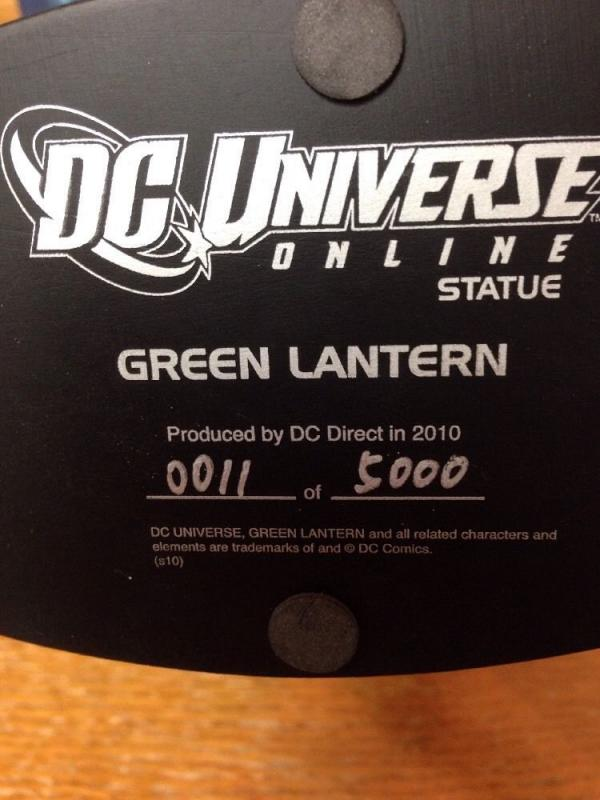 DC Universe Green Lantern Statue Low Number By Jim Lee 11/5000