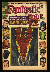 Fantastic Four #54 VG+ 4.5 Marvel Comics