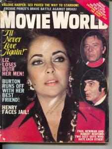 Movie World-Liz Taylor-Freddie Prinze-Paul Newman-Robert Redford-Nov-1974
