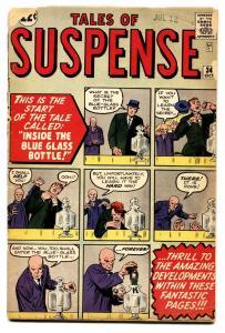 Tales Of Suspense #34 pre-hero comic book 1962-marvel-ditko-kirby-don Heck-