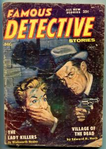 Famous Detective Stories Pulp December 1955- Lady Killers G