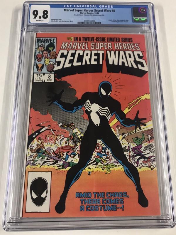 Marvel Super Heroes Secret Wars 8 Cgc 9.8 DOUBLE COVER White Pages RARE Origin