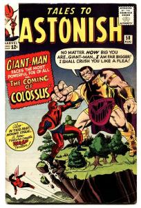 TALES TO ASTONISH #58 comic book-GIANT-MAN/WASP-SILVER AGE MARVEL! FN/VF
