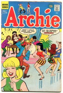 Archie #174 1967-rock n roll cover VG