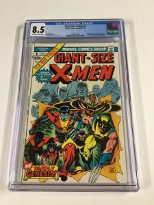 Giant-size X-men 1 Cgc 8.5 Ow/w Pages 1st Storm Colossus Nightcrawler Marvel