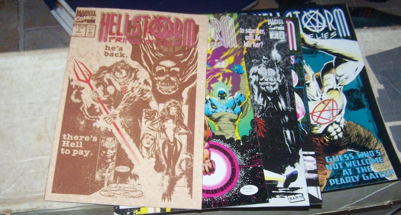 hellstorm -prince of lies # 1 5 6 7 10 1993 marvel  limited #2 damien occult