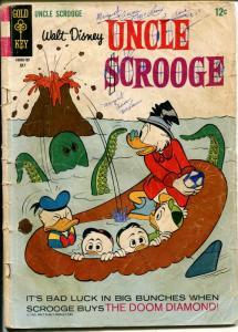 Uncle Scrooge  #70 1967-Gold Key-Walt Disney-Carl Barks art-shark cover-PR/FR