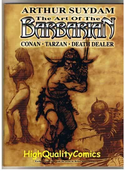 ART of the BARBARIAN sc, NM, SIGNED by Arthur Suydam, 2005, more A.S. in store