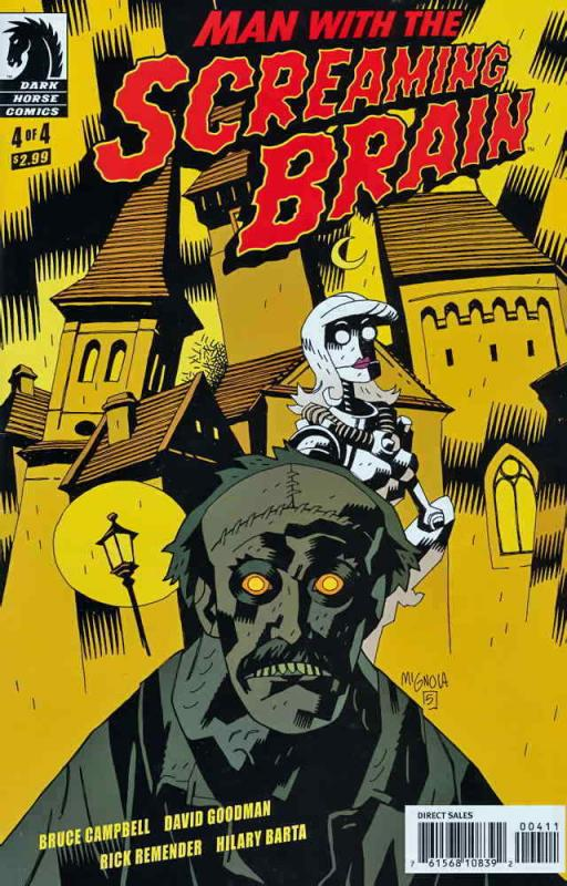 Man With the Screaming Brain #4A FN; Dark Horse | save on shipping - details ins