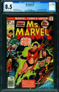 MS. MARVEL #1 First issue-CGC 8.5-Bronze Age Marvel 2021175001