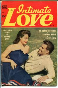 Intimate Love #13 1951-Standard-photo cover-lingerie-Reuben Moreira-VG