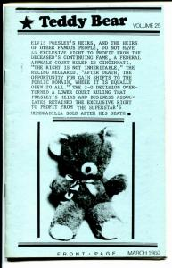 Teddy Bear 1980-Elvis Presley Fan Club Publication-pix-info-FN