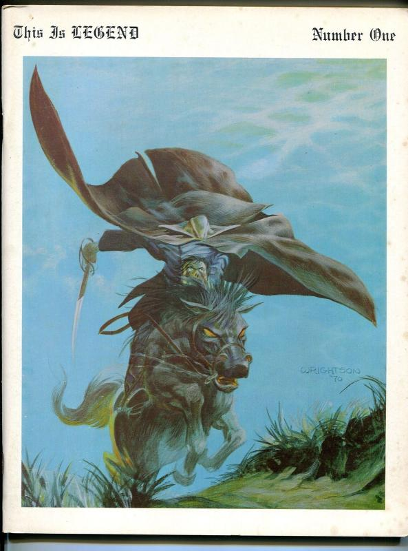 This Is Legend #1 1970-1st issue-Berni Wrightson-Michael Kaluta-Jeff Jones-VG