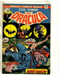 The Tomb Of Dracula # 15 FN/VF Marvel Comic Book Blade Vampire Hunter Undead RS1